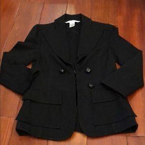 Diane Von Furstenberg fitted black jacket